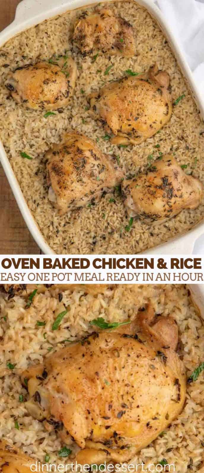 The Perfect Oven Baked Chicken and Rice - Dinner, then Dessert