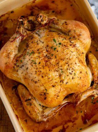 Roasted Chicken in baker