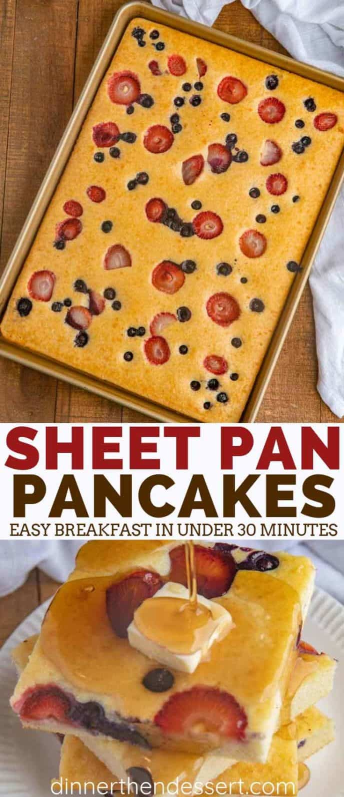 Sheet Pan Pancakes, Perfect for Brunch!