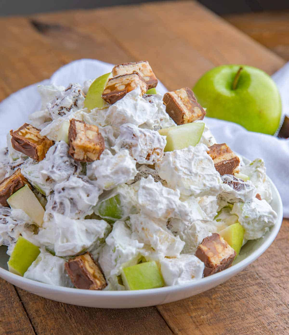 Easy Snickers Salad Candy Bar Apple Salad Dinner Then