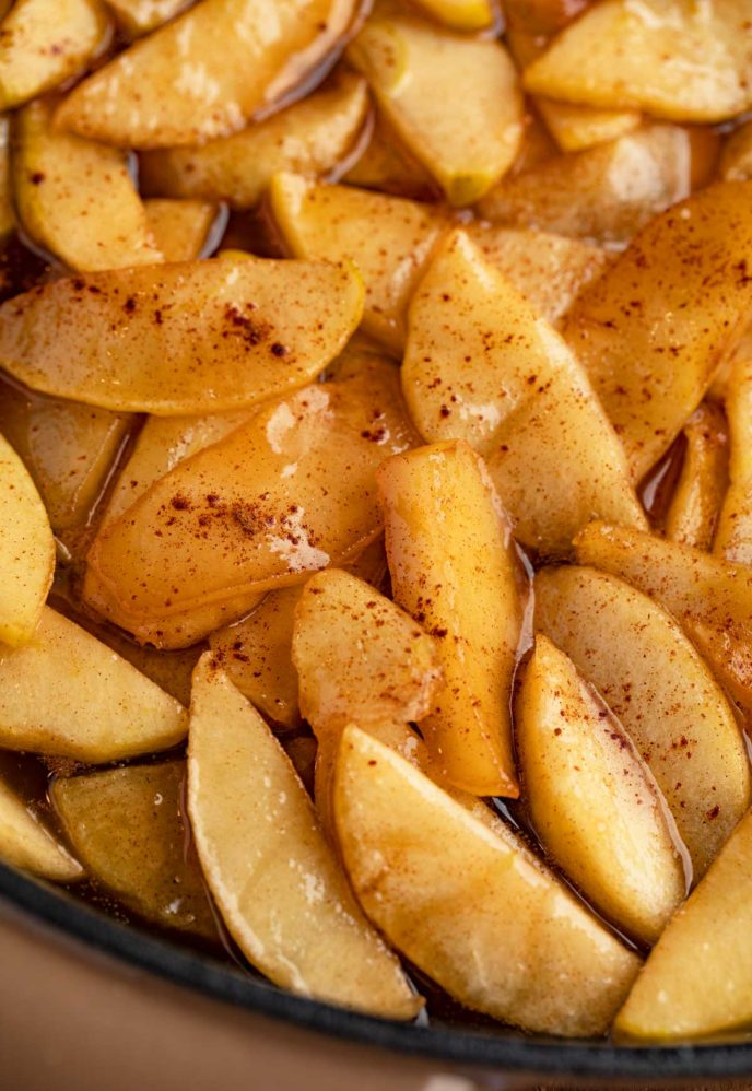 Southern Fried Apples in skillet