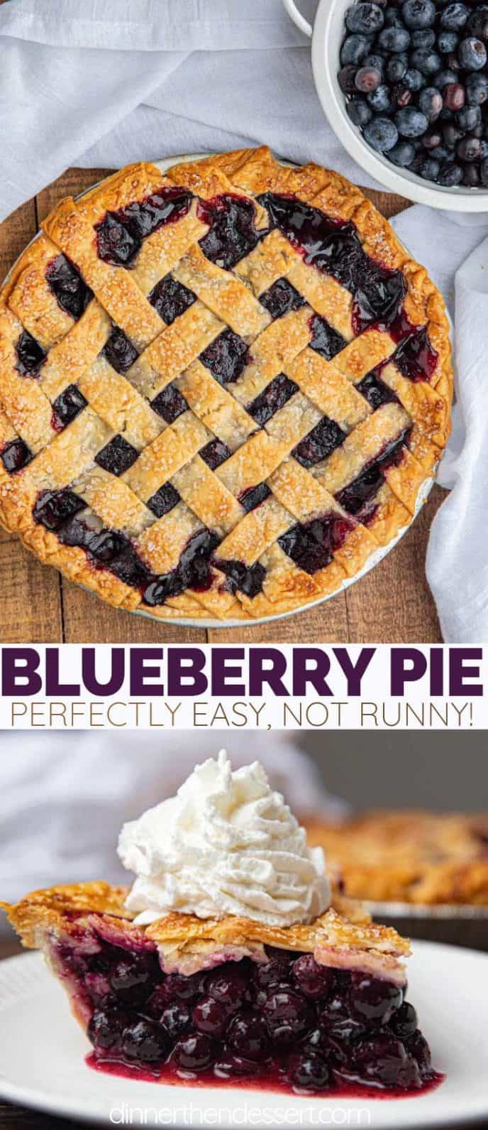 Collage of Blueberry Pie photos