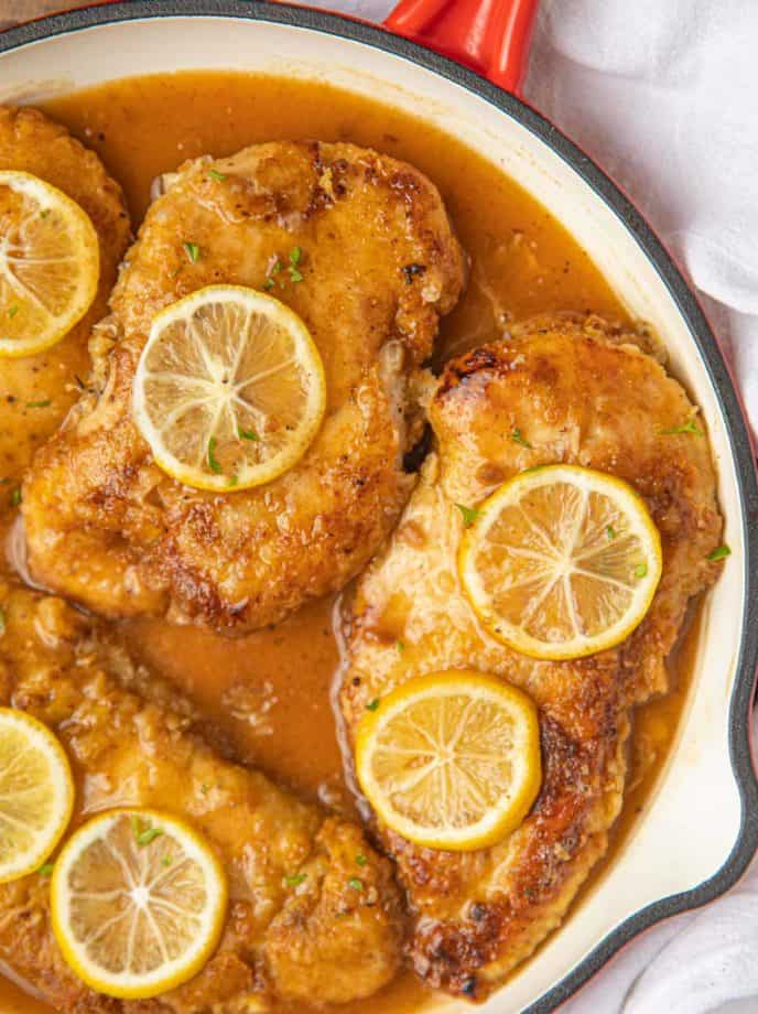 Chicken Francese close up