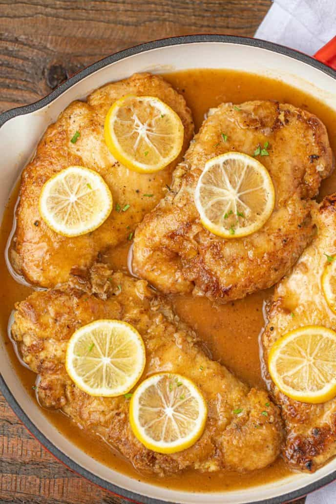 Easy Chicken Francese in Pan