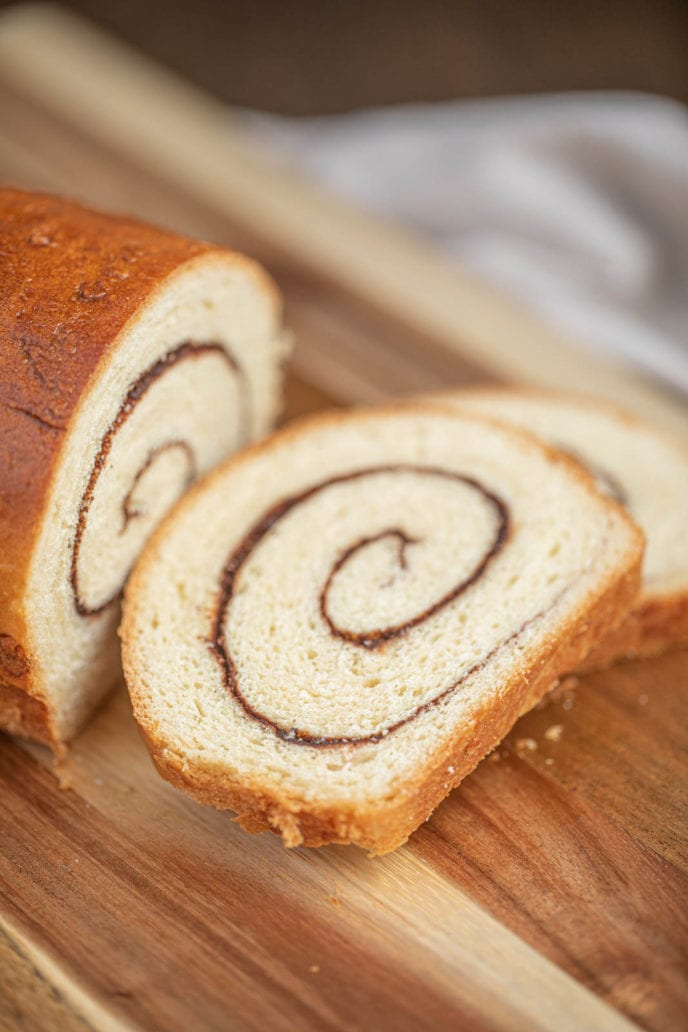 Cinnamon Swirl Bread sliced