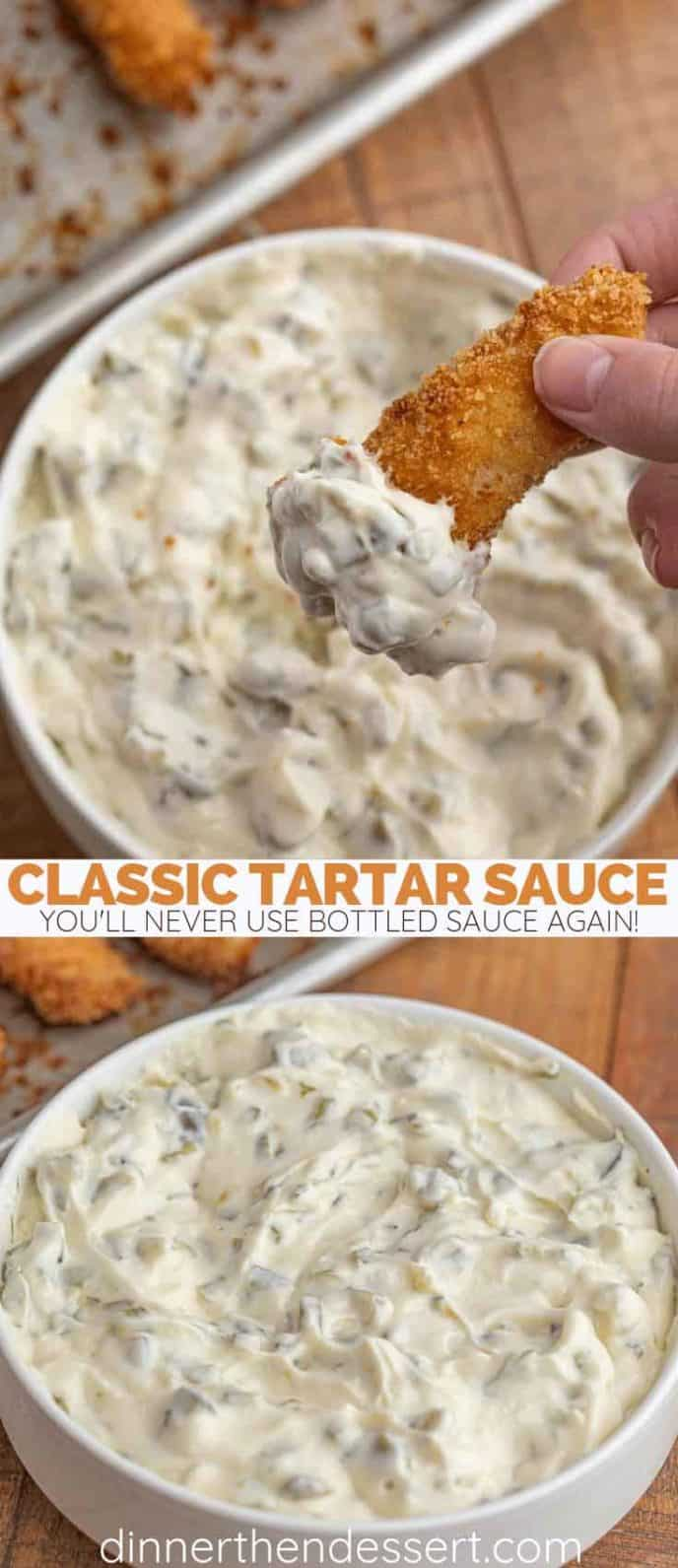 Tartar Sauce with homemade fish sticks
