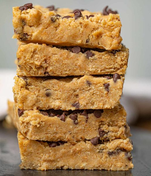 Cookie Dough Bars with Chocolate Chips