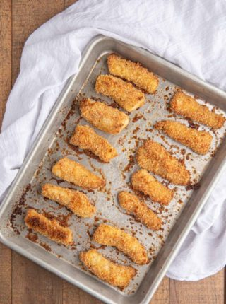 Tray of Baked Fish Sticks