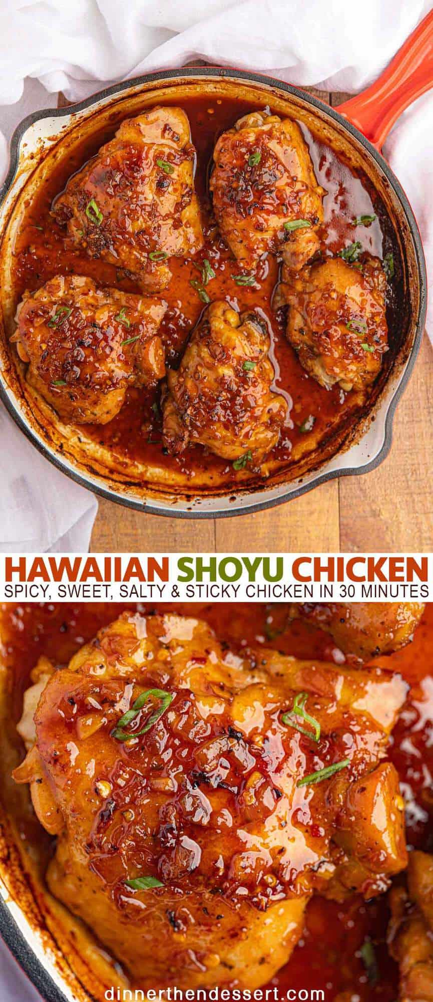 Hawaiian Shoyu Chicken Sticky Sweet In 30 Mins Dinner Then Dessert
