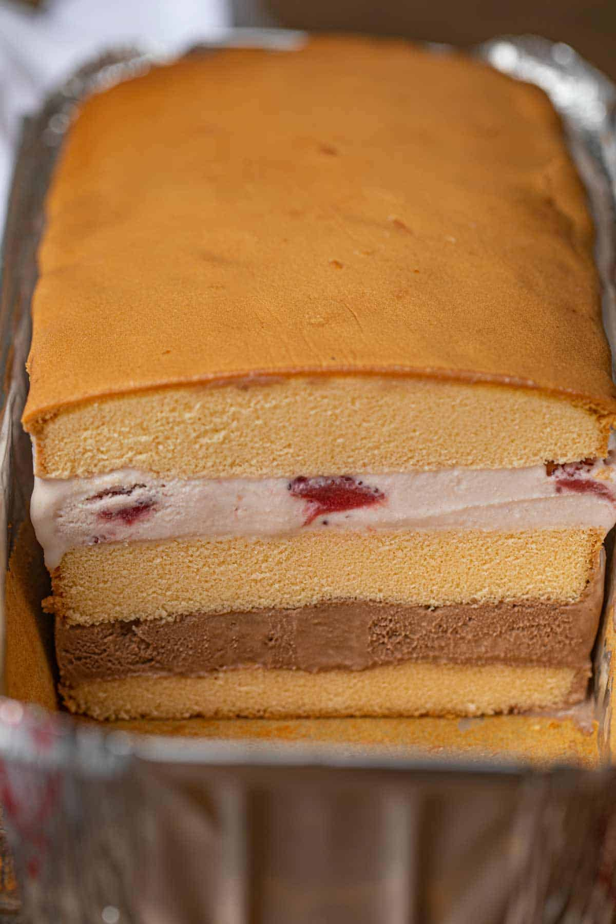 Easy Ice Cream Cake With Pound Cake Dinner Then Dessert