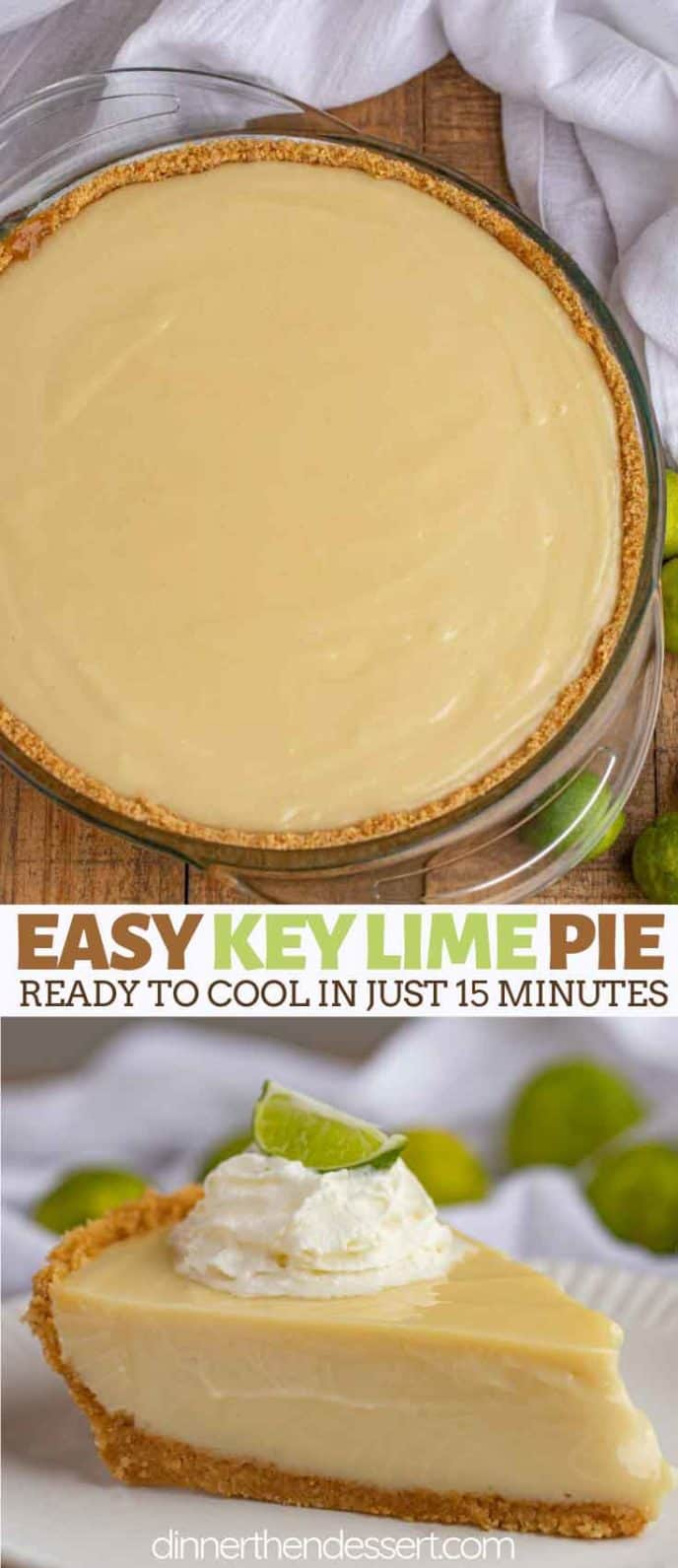 Sliced key lime pie