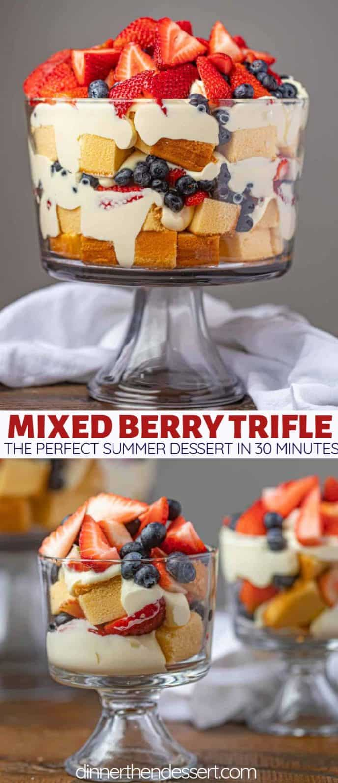 Mixed Berry Trifle Collage Photograph