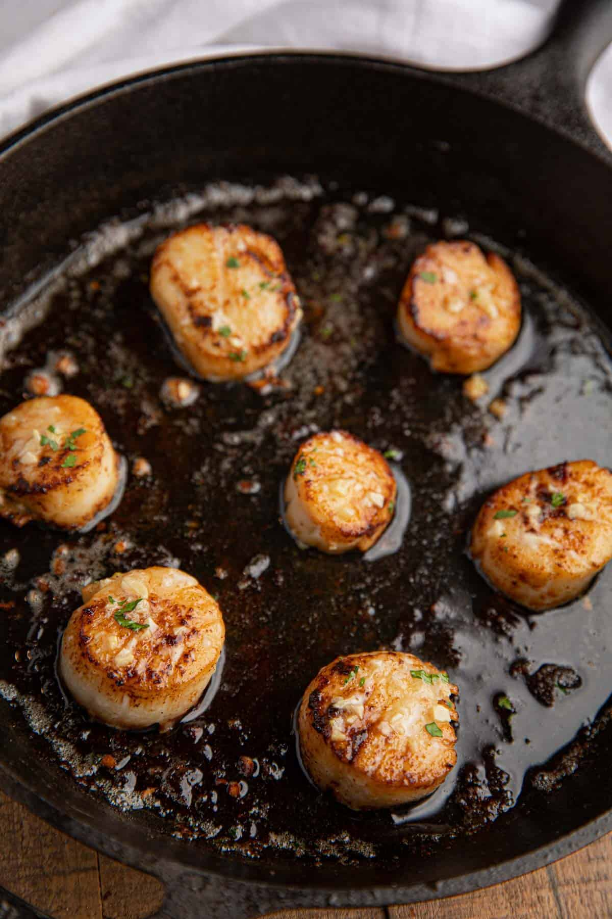 Pan Seared Scallops Browned Butter Amp Garlic Dinner Then Dessert