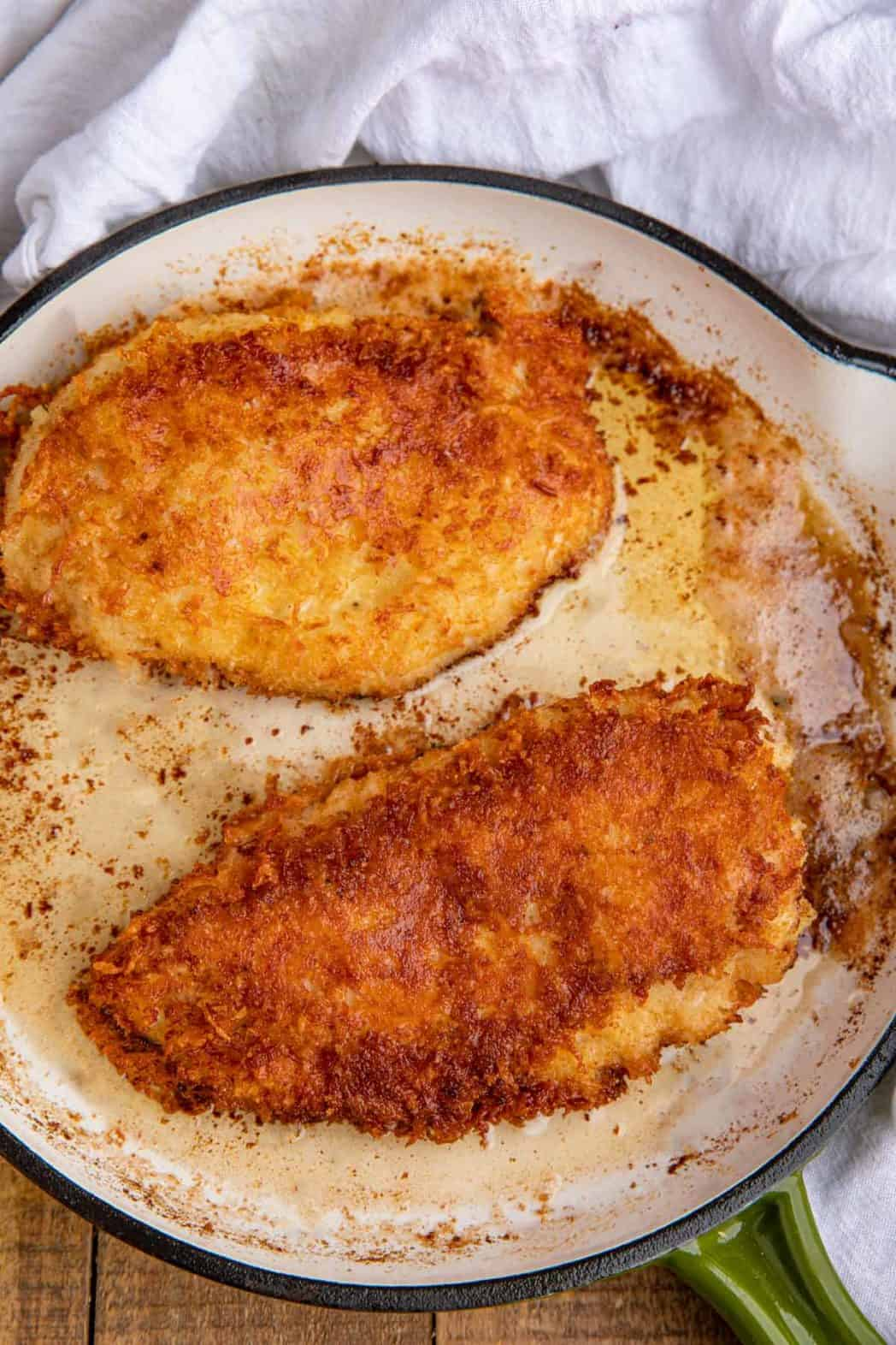 Pan with Parmesan Crusted Chicken