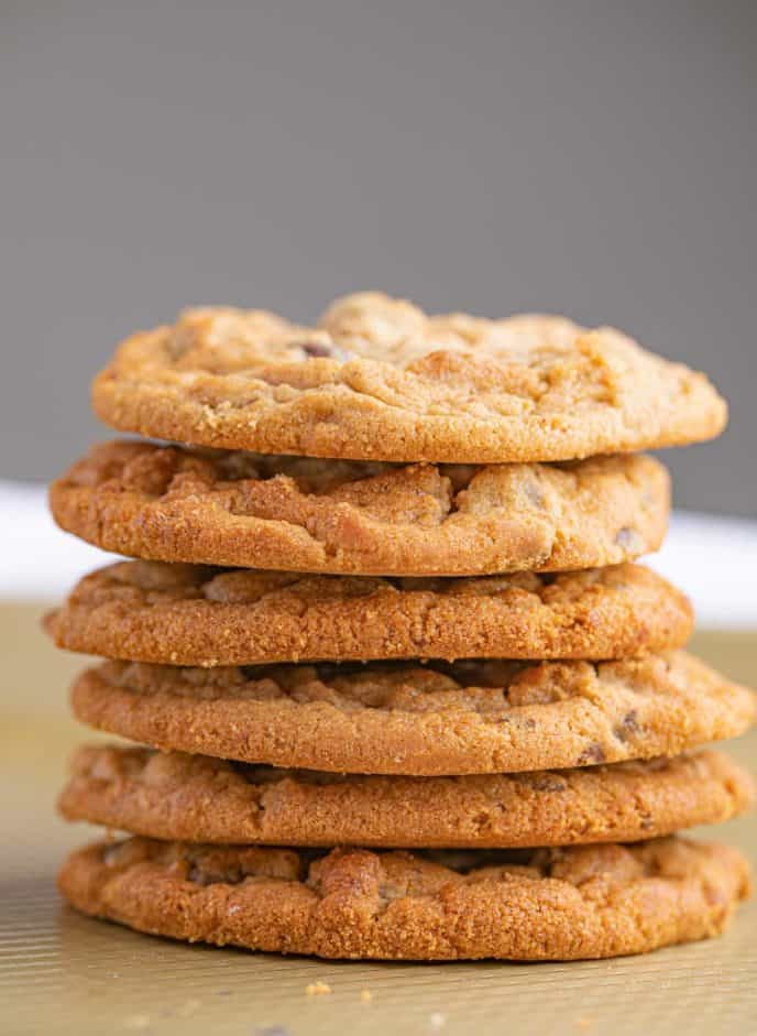 Stack of Chocolate Chip Peanut Butter Cookies