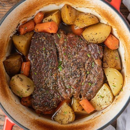 Oven Braised Beef Pot Roast