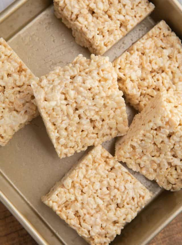 Tray of Rice Krispie Treats
