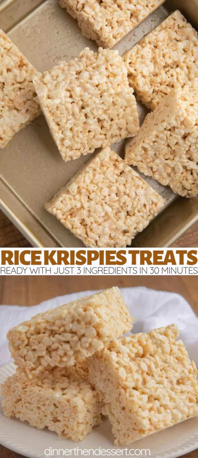 Rice Krispies Treats in a pan