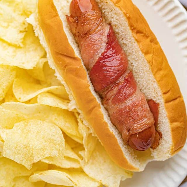 Bacon Wrapped Hot Dogs