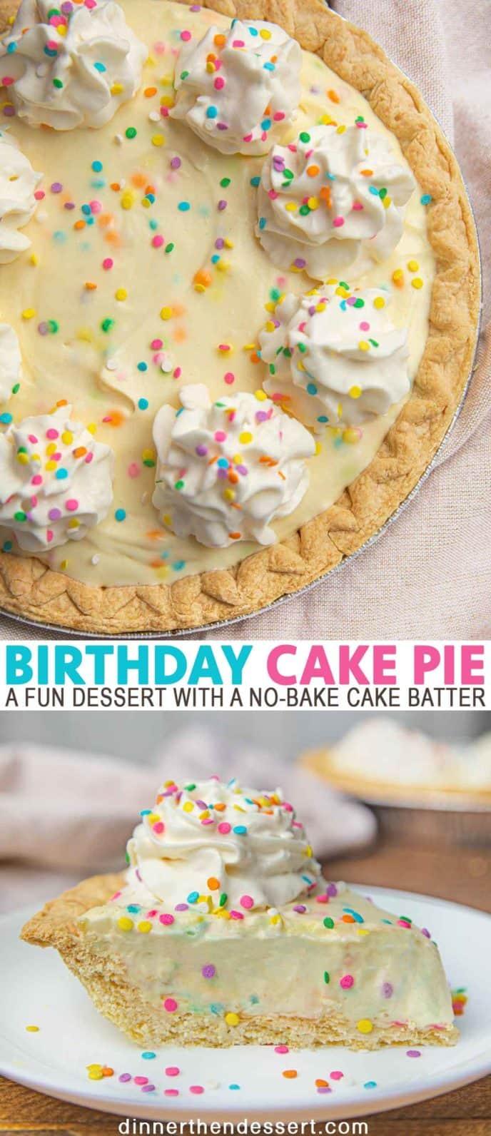Super Birthday Cake Pie With Rainbow Sprinkles Dinner Then Dessert Funny Birthday Cards Online Inifofree Goldxyz
