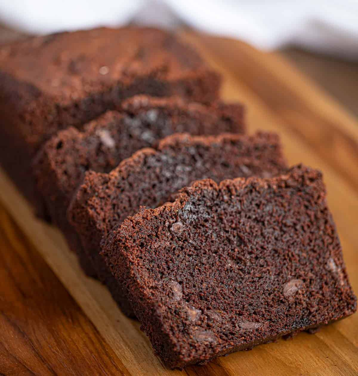 Chocolate Zucchini Bread Loaf