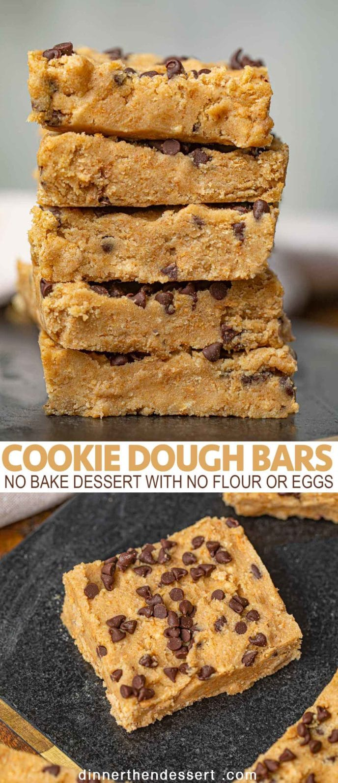 Stacked Cookie Dough Bars