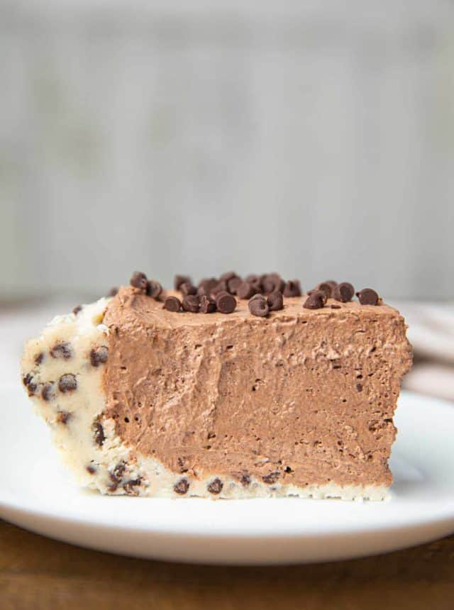 Slice of Cookie Dough Pie