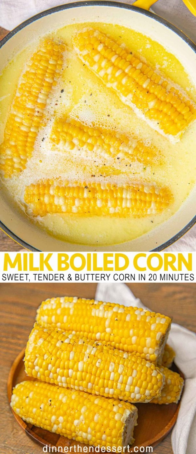 Milk Boiled Corn on the cob