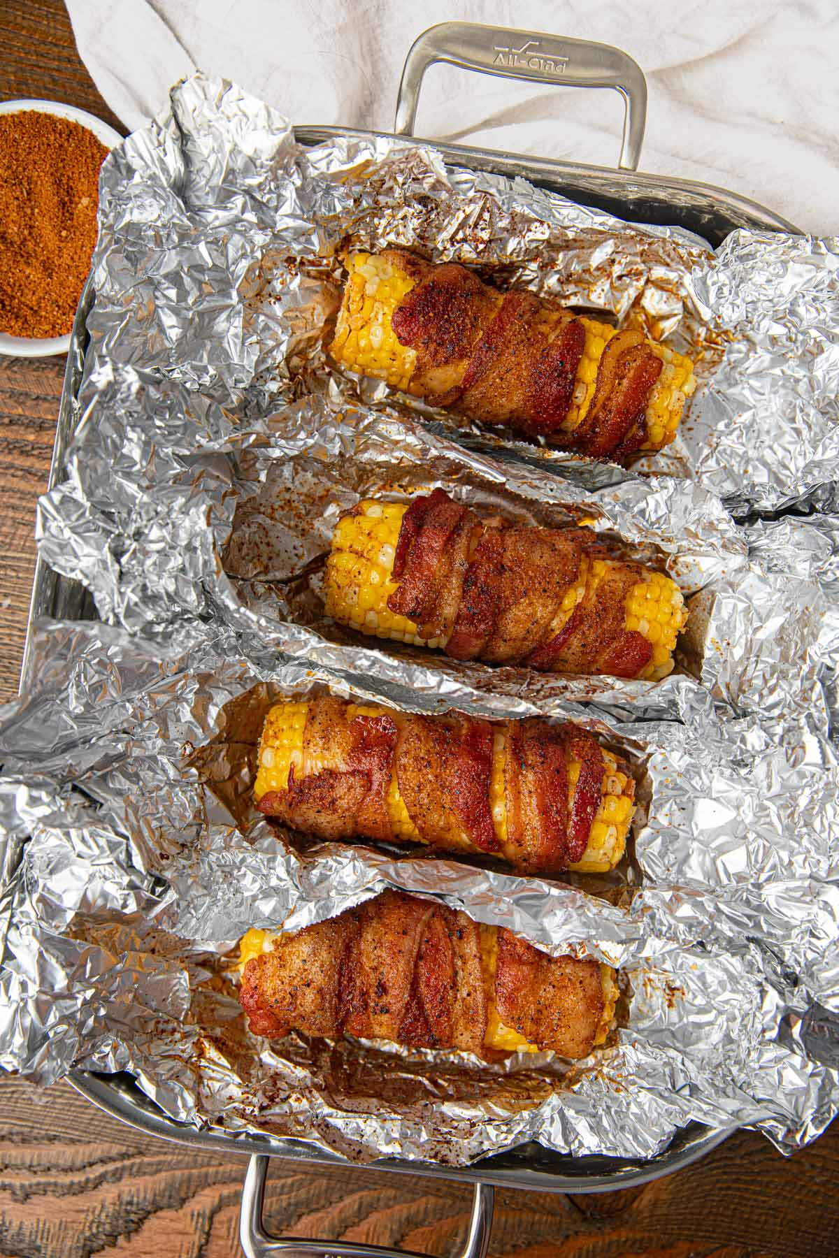 BBQ Bacon Oven Roasted Corn