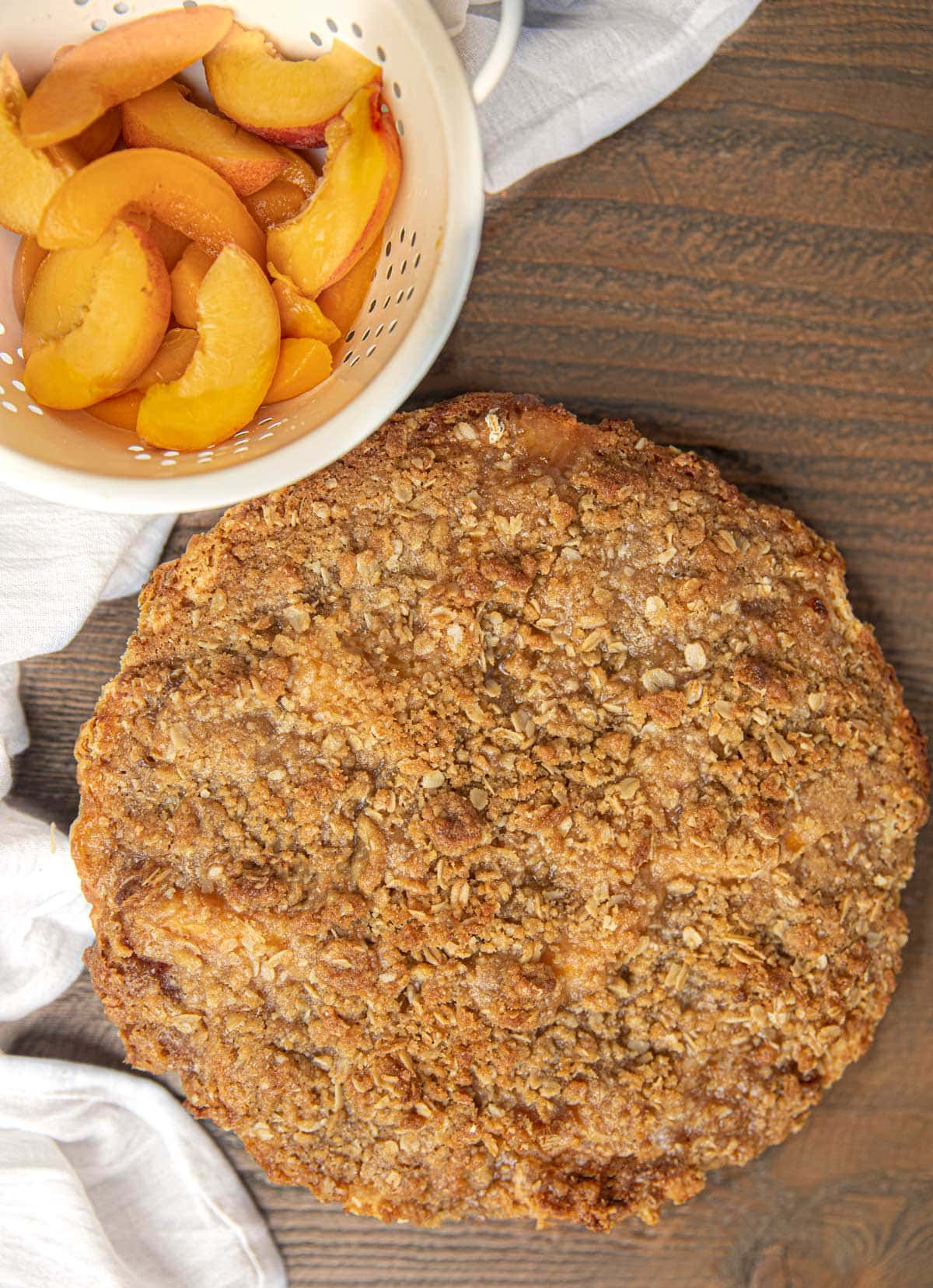 Whole Peach Crumb Pie