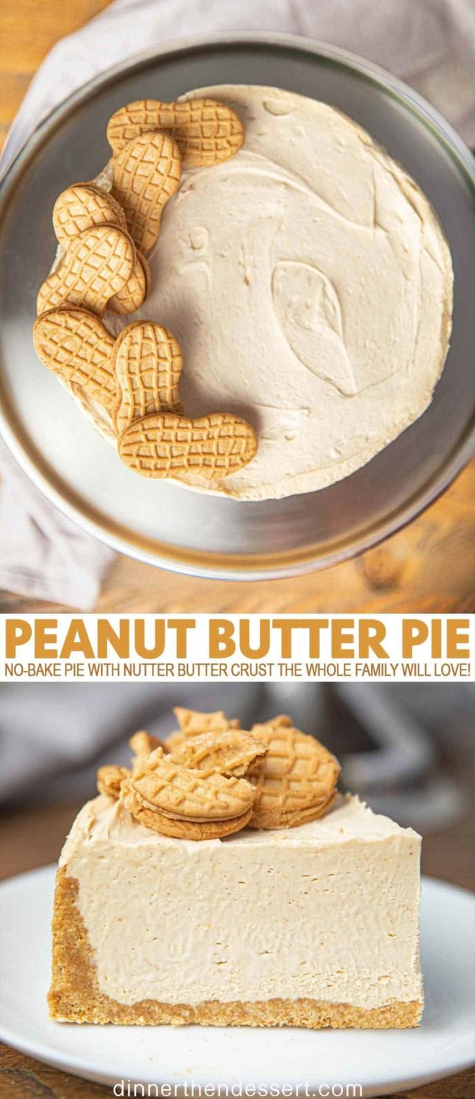 Peanut Butter Pie with Nutter Butter Cookies