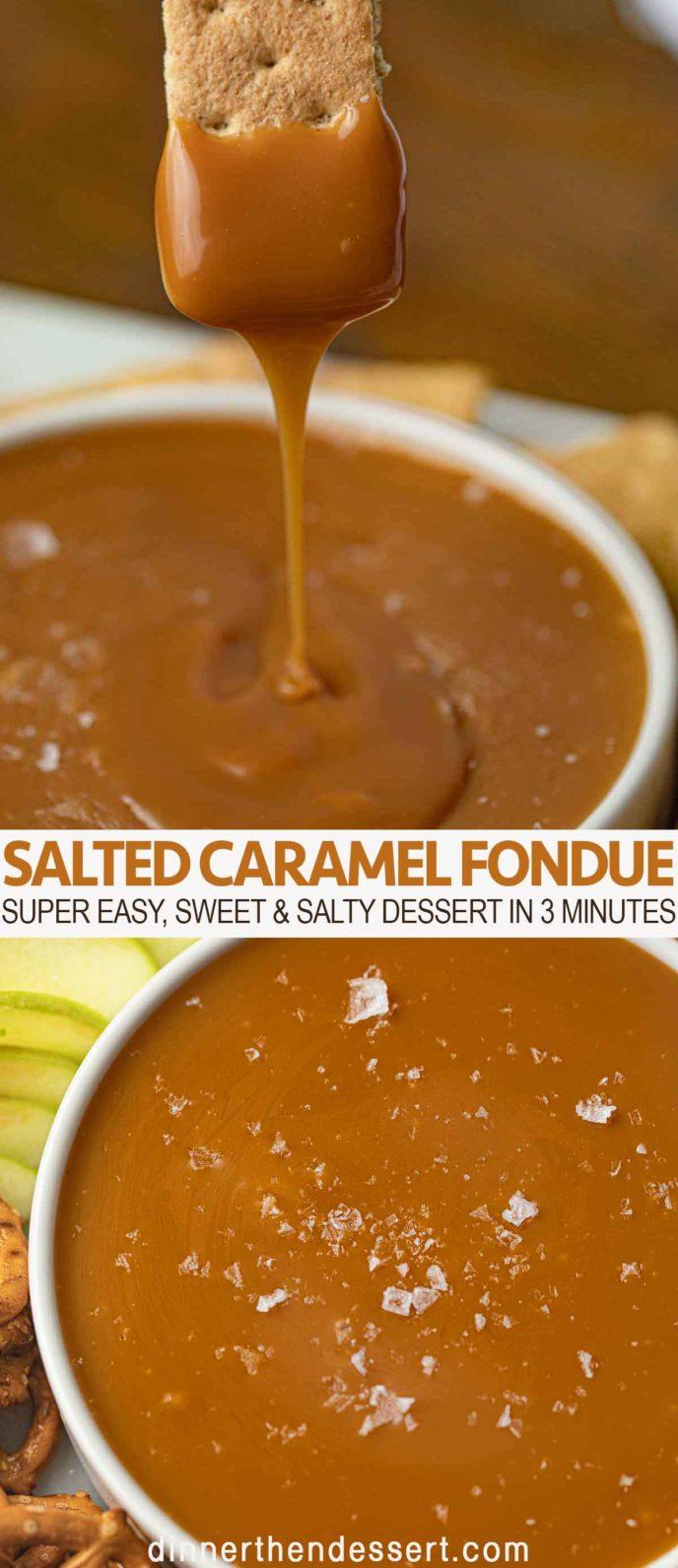 caramel fondue with graham crackers