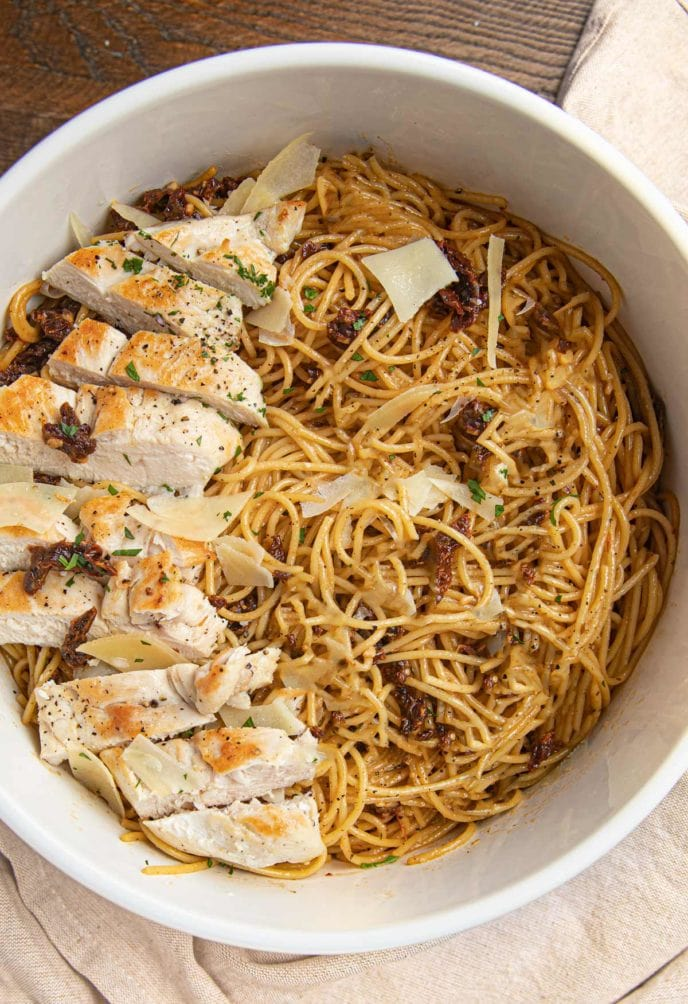 Sun Dried Tomato Chicken Spaghetti