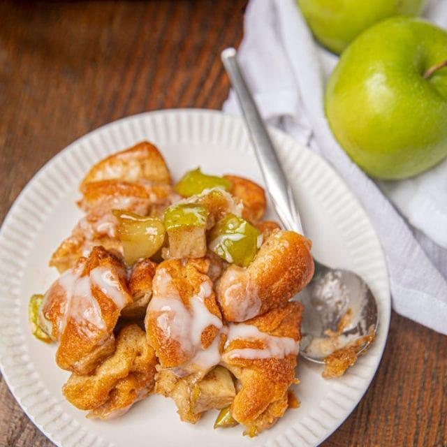 Apple Fritter Casserole on plate