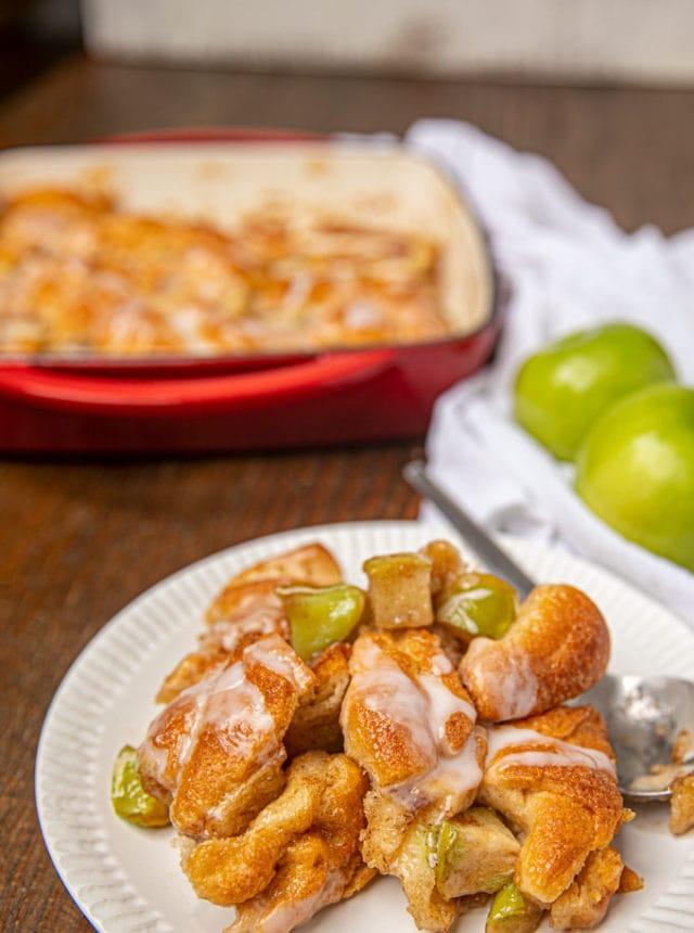 Apple Fritter Casserole on dish