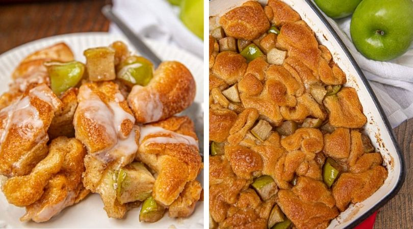 Ultimate Apple Fritter Casserole (with Easy Icing) - Dinner, then Dessert