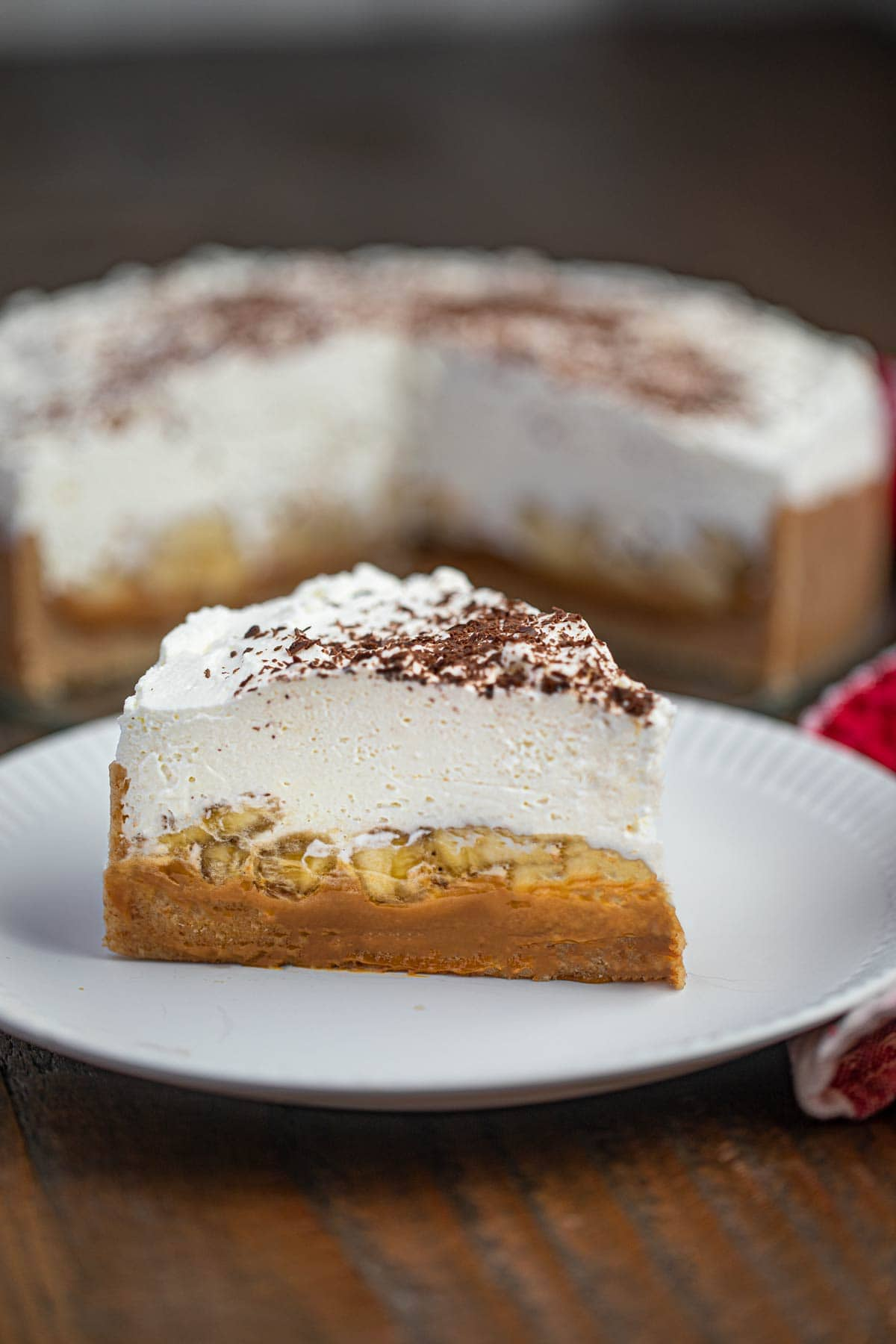 Banoffee Pie on plate