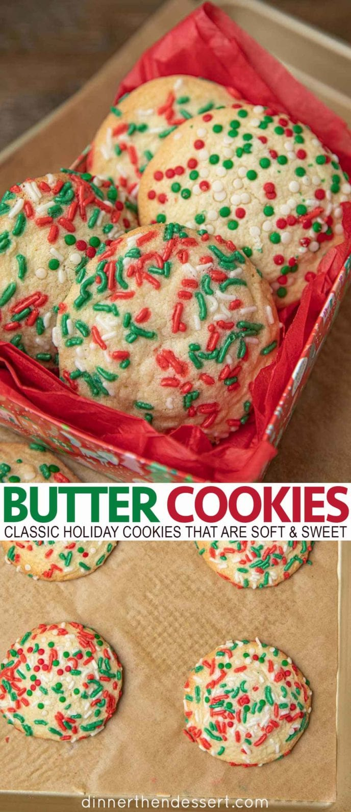 Butter Cookies in a Christmas box