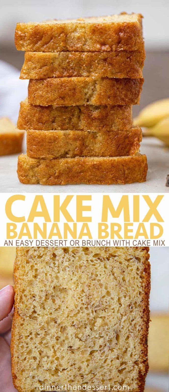 Cake Mix Banana Bread sliced
