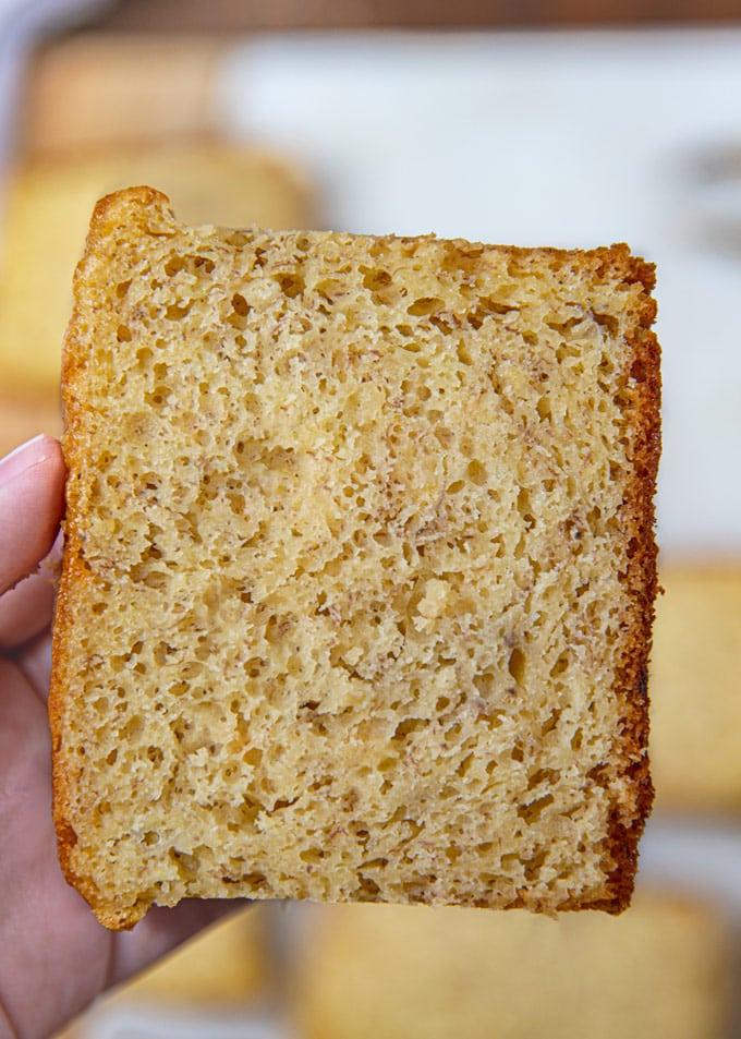Slice of Cake Mix Banana Bread