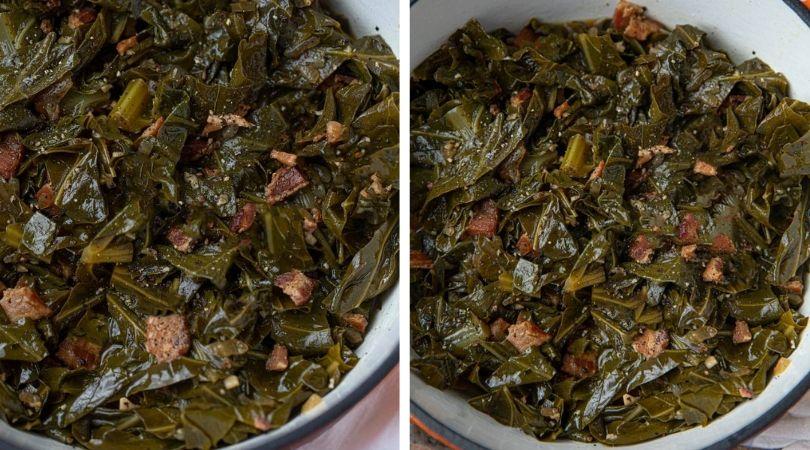 Easy Collard Greens w/Bacon (SO Tender!) - Dinner, then Dessert