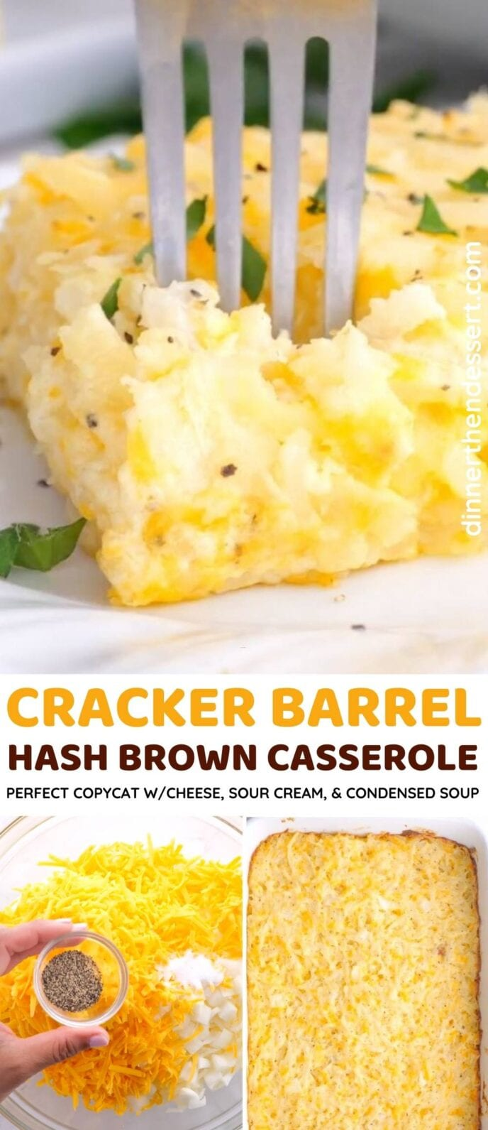 Cracker Barrel Hash Brown Casserole Collage