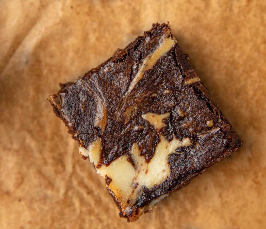 Piece of Cream Cheese Brownie