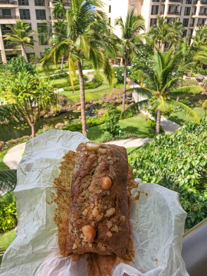 Macadamia Nut Banana Bread in Hawaii