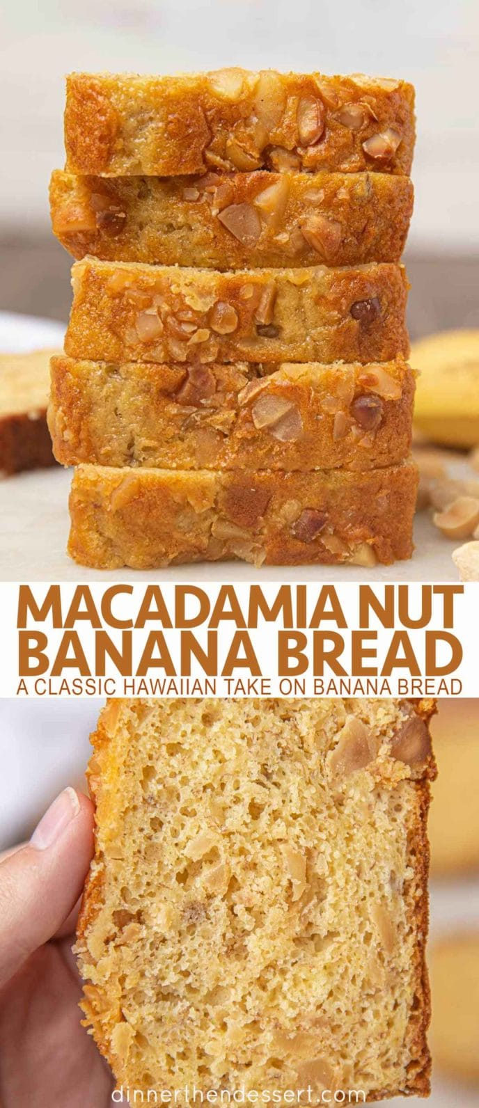 Slices of Macadamia Nut Bread