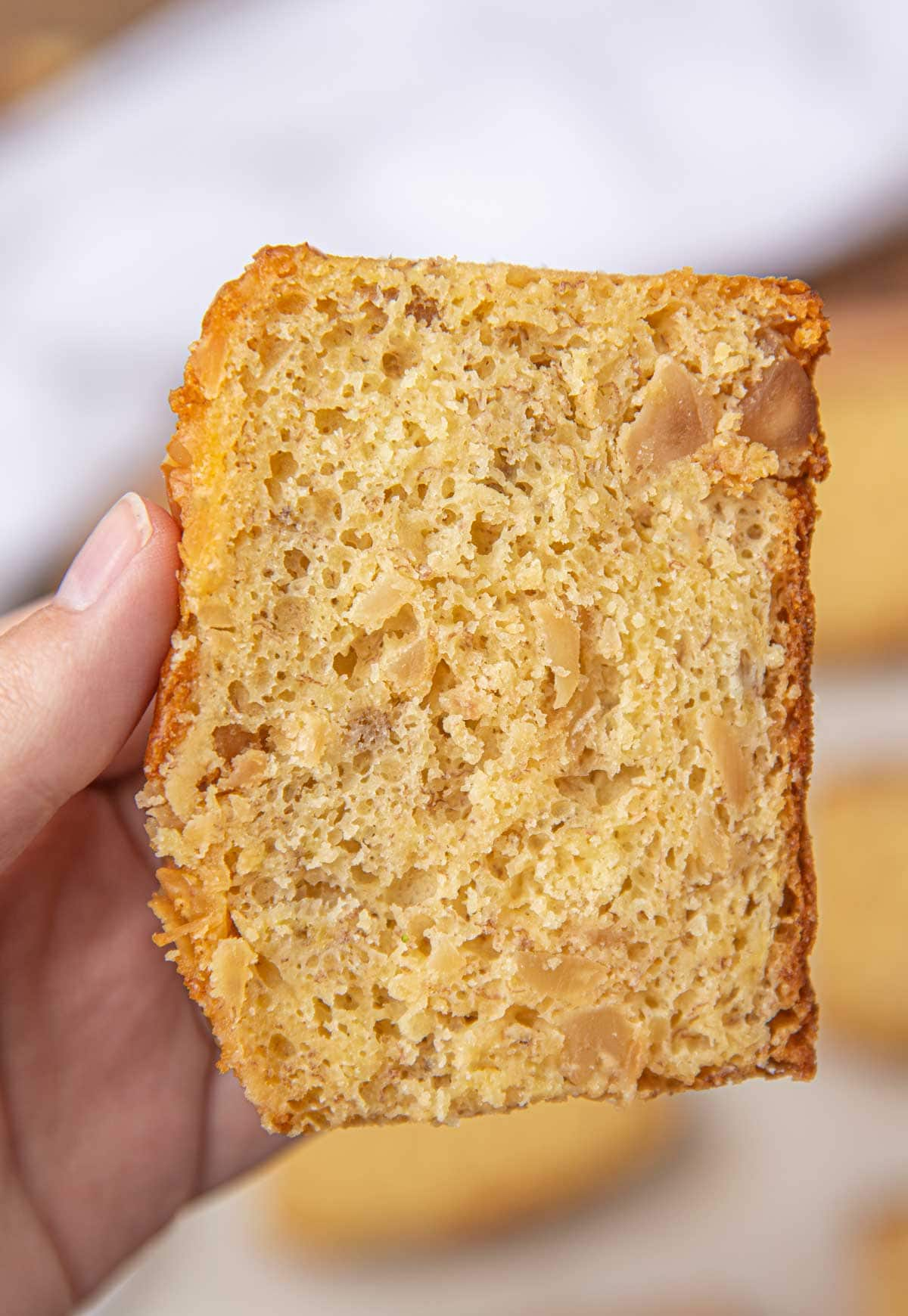 Slice of Macadamia Nut Banana Bread