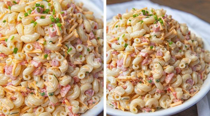 Easy Cheesy Pimento Pasta Salad - Dinner, then Dessert