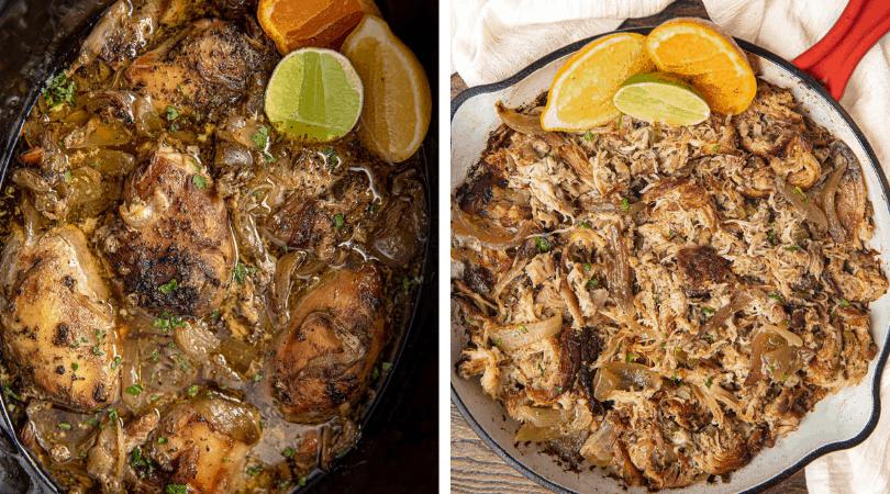 Slow Cooker Chicken Carnitas - Dinner, then Dessert