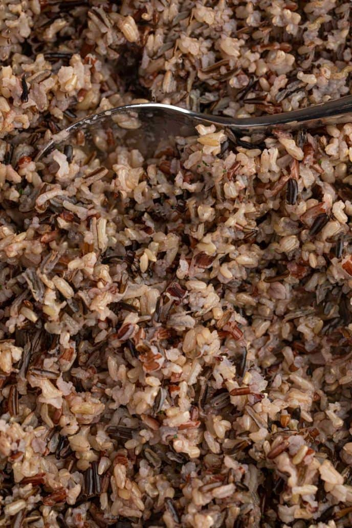 Wild Rice with spoon