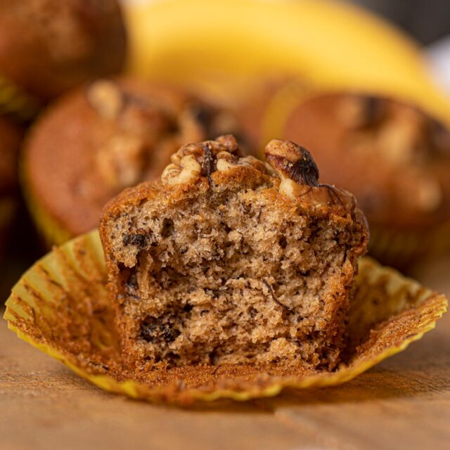 Banana Bread Muffin with Walnuts